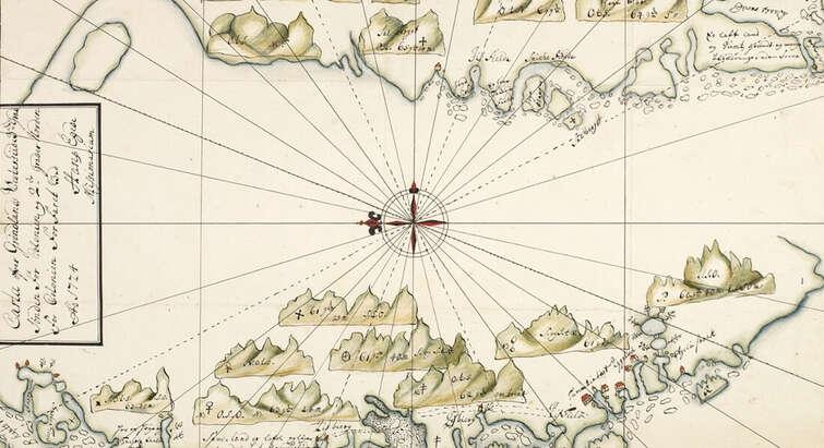 Kort over Grønlands vestkyst