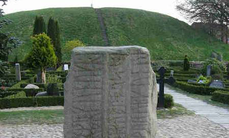 South mound and rune stone