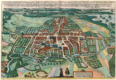Copper engraving of Odense