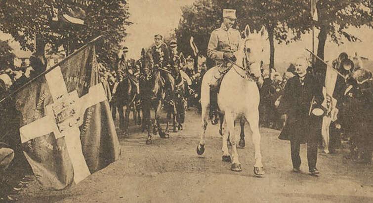 Christian X rider over grænsen i 1920